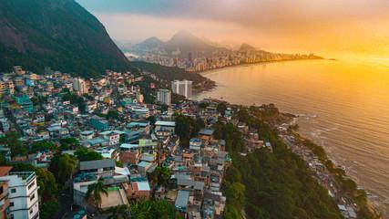 In de dag Rio de Janeiro morro do vidigal ipanema rio de janeiro leblon brasil praia beach