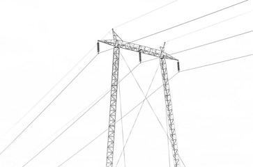 Electric tower for transmitting high voltage captured isolated
