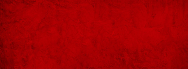 Fototapete - red grunge cement Christmas background with vintage texture concrete banner