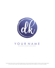 D K DK initial splash logo template vector. A logo design for company and identity business.