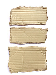 Brown piece paper or cardboard isolated on white background