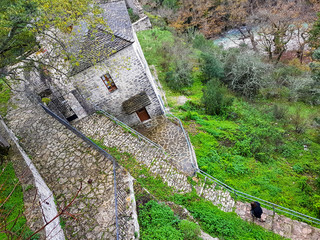 "monastery orthodox in Vrosina village Ioannina perfecture greece called ""panagia raidiotisa"""