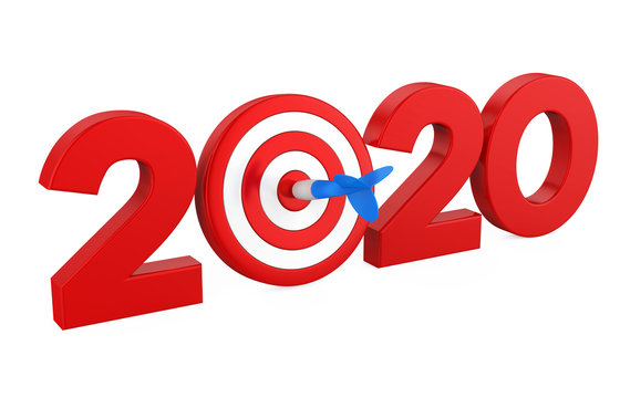 2020 with Darts Target Isolated