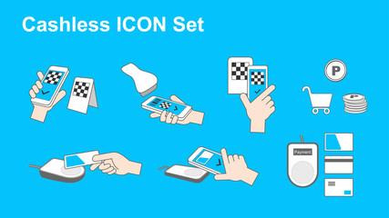Cashless icon set