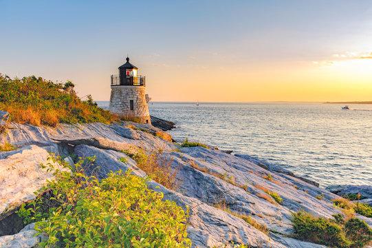 Castle Hill Lighthouse, Newport Rhode Island beautiful scenic New England landscape