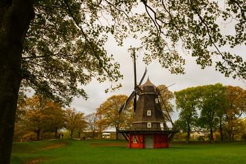 COPENHAGEN, DENMARK: Kastelsmollen windmill inside the Kastellet castle.