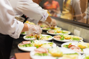 Catering food of hotel