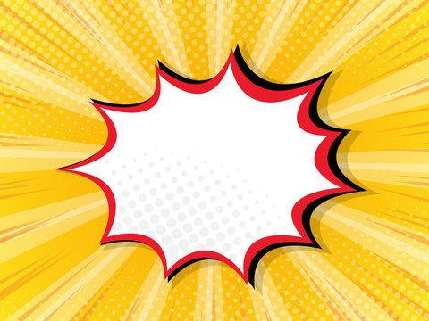 blank boom splash label comic book