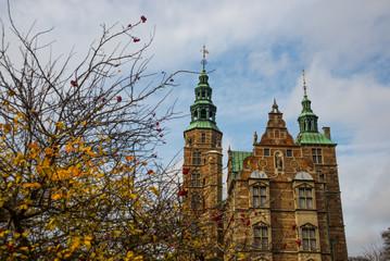 Rosenborg Castle in Copenhagen, Denmark. Built in the Dutch Renaissance style in 1606 during the reign of Christian IV.