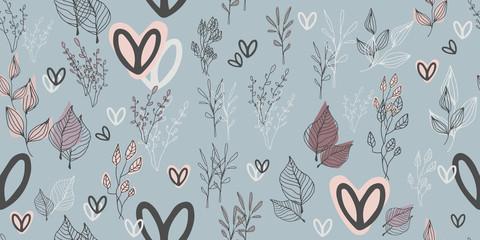 Botanical seamless pattern. Good for leaflets, cards, posters, prints, menu, booklets