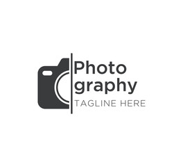 photography logo concept vector design template