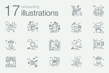 Onboarding outline iconset