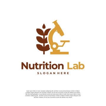 Nutrition Laboratory logo designs concept vector, logo template icon symbol