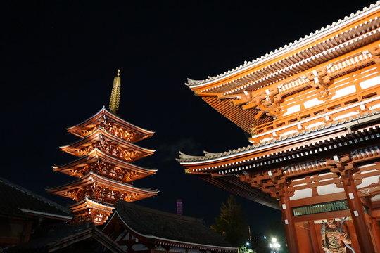 Pagoda of Senso-ji Temple