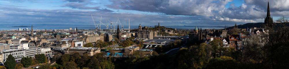 Edinburgh - panorama, a view from Edinburgh Castle. UK