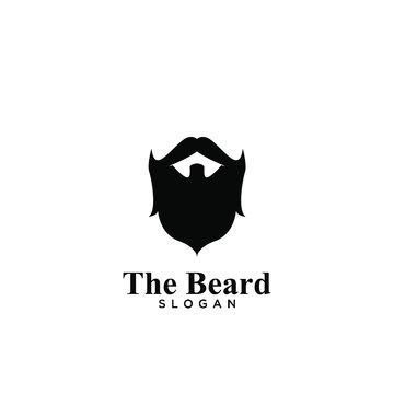 Beard logo icon design vector illustration