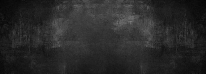 black stone concrete texture background anthracite panorama banner long Fotobehang