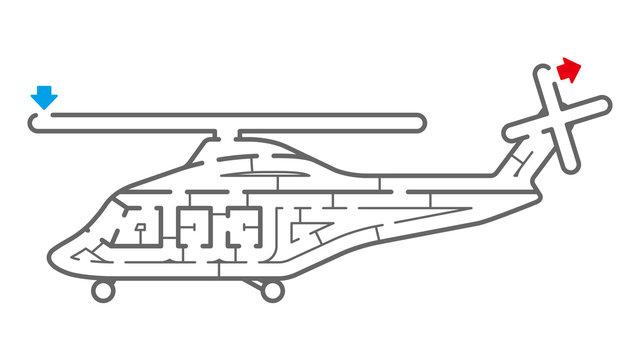 ヘリコプターの迷路