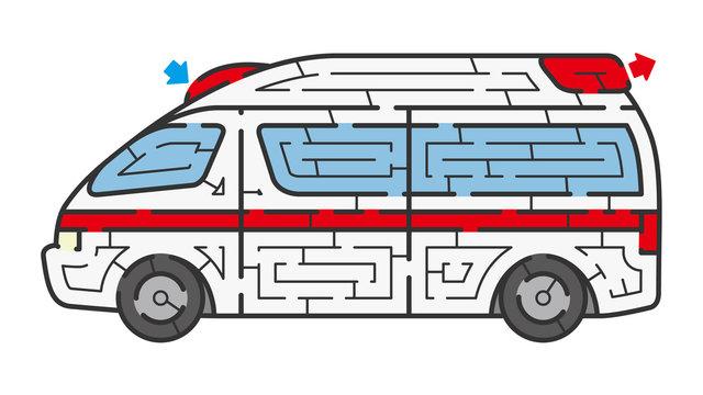 救急車の迷路