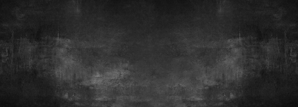 black stone concrete texture background anthracite panorama banner long