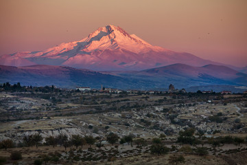 volcano Mount Erciyes in the evening Fototapete