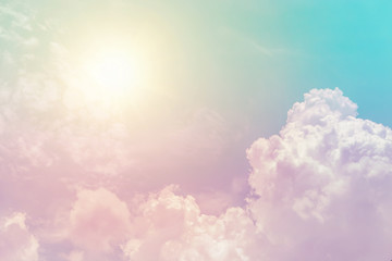 sunny cloud sky fantasy colorful pastel color for background Wall mural