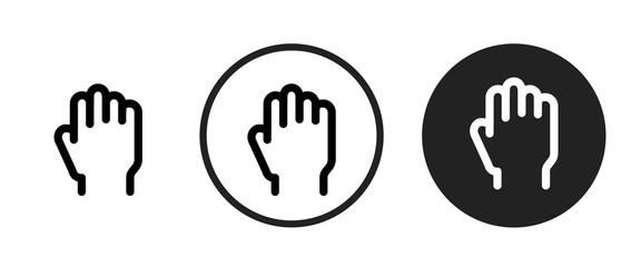 hand drag icon . web icon set .vector illustration