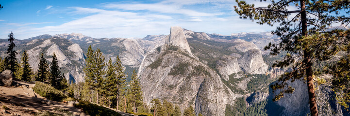 Photo sur Toile Cappuccino Half Dome du parc Yosemite
