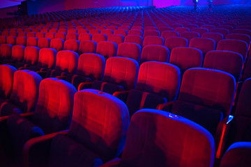 empty auditorium with seats Fotomurales