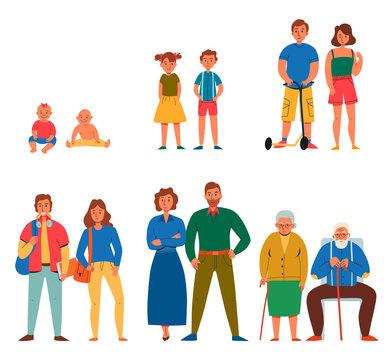 Generations Icons Set