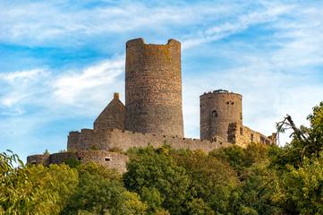 Die Burg Münzenberg in der Wetterau, Hessen, deutschland