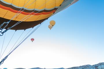 Foto auf Gartenposter Ballon Hot air balloons flying, view from balloon. Cappadocia, Turkey.