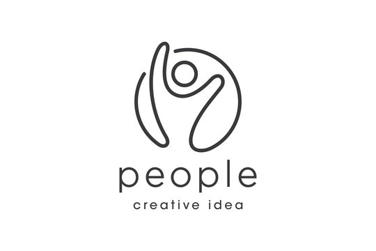 Creative Line People Logo and Icon Template