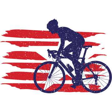 Cycling  Men  flag, American Flag, Fourth of July, 4th of July, Patriotic, Cricut Silhouette Cut File, Cutting file