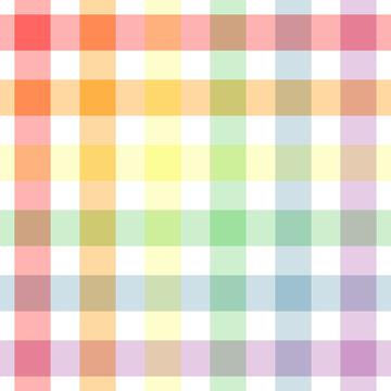 Plaid rainbow repeat pattern
