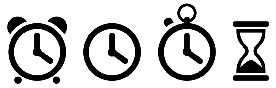 Time icons set. Clock icon. Vector