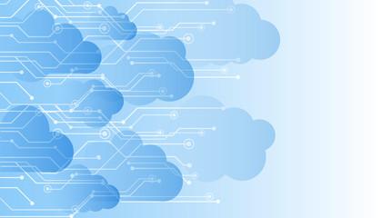 Obraz Futuristic cloud technology background, integrated digital web concept – stock vector - fototapety do salonu
