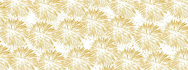 Hand drawn fireworks background – stock vector