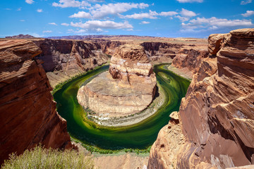 Famous viewpoint, Horse Shoe Bend in Page, Arizona
