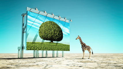 Global warming concept. This is 3d render illustration