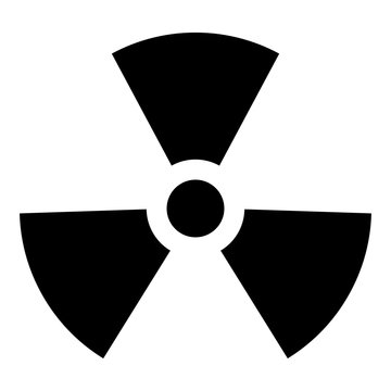 Radioactivity Symbol Nuclear sign icon black color vector illustration flat style image