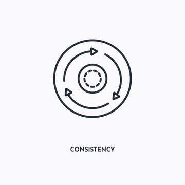 consistency outline icon. Simple linear element illustration. Isolated line consistency icon on white background. Thin stroke sign can be used for web, mobile and UI.