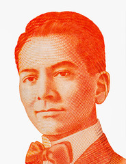 President Manuel Luis Quezon y Molina. Portrait from Philippines 20 Piso 2010  Banknotes. Philippines money, Philippines Banknote. Closeup Collection..