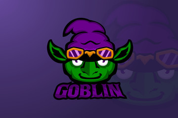 Obraz Goblin head E sports logo - fototapety do salonu