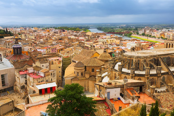 Top view of Tortosa from Suda castle