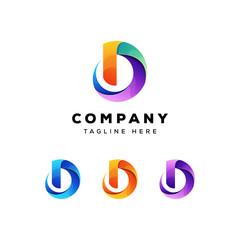 Fototapeta colorful letter d logo vector template obraz