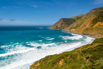 Autocollant pour porte Cote The Pacific coast and ocean at Big Sur region. California landscape, United States