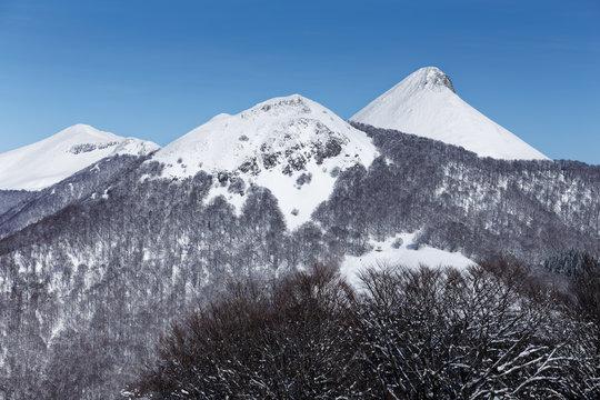 Puy griou sous la neige