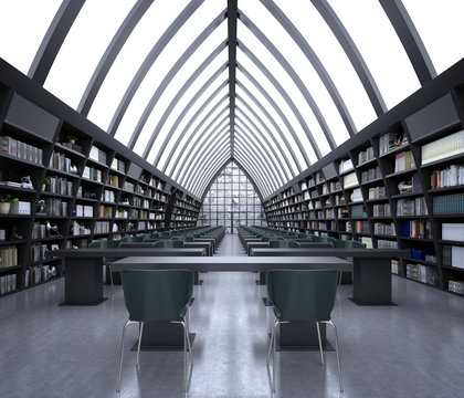 3d render of library