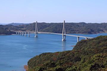 鷹島肥前大橋の風景